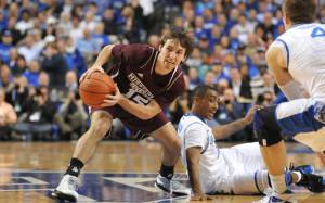 Baxter Price fighting for a ball at Kentucky