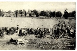 MSU and LSU playing in 1907 at Hardy Athletic Field at Mississippi A&M (Courtesy SB Nation, Mississippi State University Libraries, University Archives)