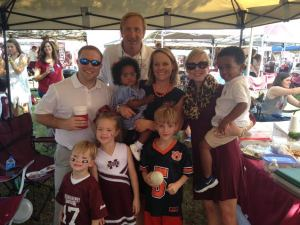 The Gordon and Hill families tailgating Saturday