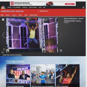 Cochran featured on the sneak peek section of the American Ninja Warrior website