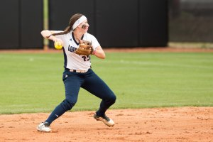 Carly in the field for Longwood