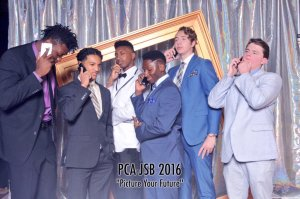 Herard, far left, at high school prom